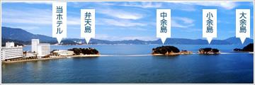 弁天島と余島
